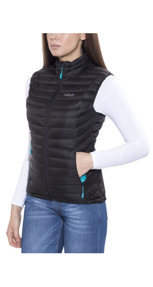 Rab Microlight Vest Women Black/Tasman